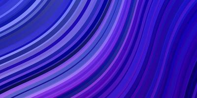 layout em azul claro e roxo com curvas.