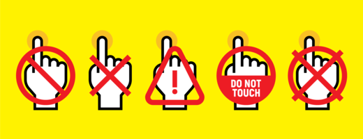 Não toque vetores do sinal