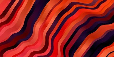 fundo vermelho com linhas curvas.