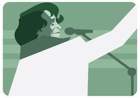 James Brown por trás do vetor