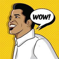 Amarelo Popart James Brown vetor