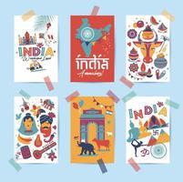 tradições asiáticas budismo viagens ícones isolados e cartões de símbolos vetor