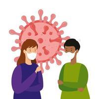 pessoas infectadas com o ícone isolado covid-19