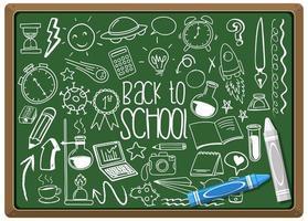 elemento escolar desenhado à mão no quadro-negro vetor