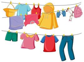 roupas isoladas na prateleira