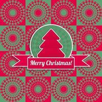 fundo de cores retrô de Natal e ano novo. vetor