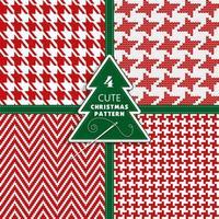 textura de Natal de moda perfeita. vetor