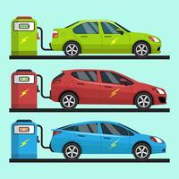 Coleção de vetores de carro elétrico