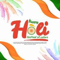 Feliz Holi Festival de ilustração vetorial de cores