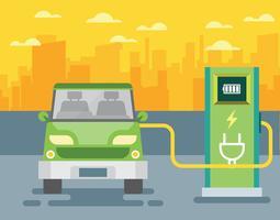 Ilustração elétrica do carro vetor