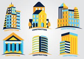 Pacote de vetores de logotipos de construção