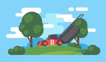 Vetor de cortador de grama