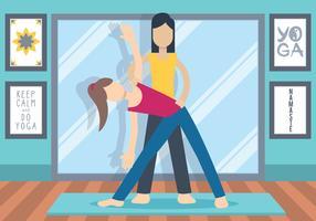Vector de instrutor de ioga
