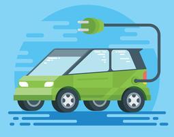 Ilustração de carro elétrico vetor