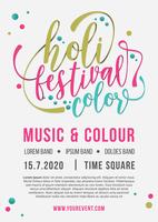 Folheto Holi Festival of Colors vetor