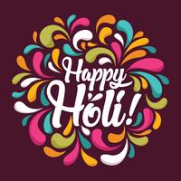 Holi Festival das Cores vetor
