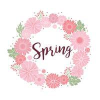 Grinalda de primavera floral