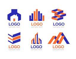 Vetor de Pack de logotipos de construção