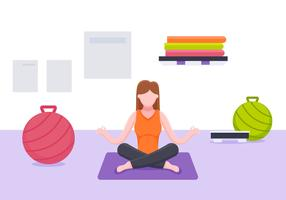 Excelente conjunto de vetores de instrutor de Yoga