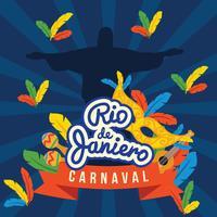 Poster do carnaval de Rio Dejaniero vetor
