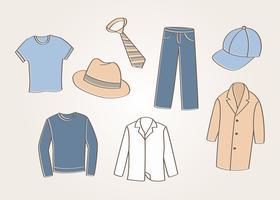 Vector de roupas masculinas