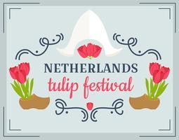 Vector do Festival das Tulipas Países Baixos