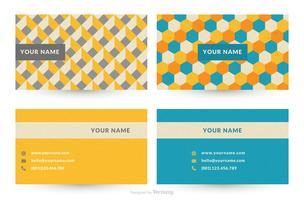 Modelos de vetor de cartão de visita de Design gráfico geométrico