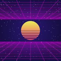 Ilustração geométrica retro do fundo abstrato do estilo do vintage 80s