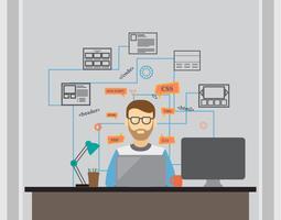 Engenheiros de software vetor