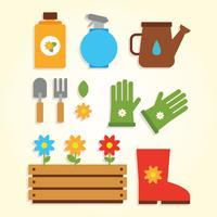 Vetor de elementos de jardinagem