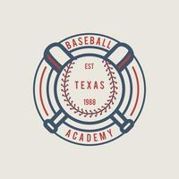 Emblema de beisebol vintage vetor