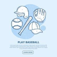 Ilustração Vintage Vector Baseball
