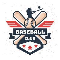 Logotipo de beisebol vintage vetor