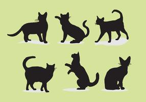 Ilustração vetorial de Cat Siluetas vetor