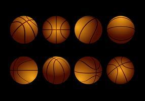 Vetor de coleção de basquete texturizado grátis