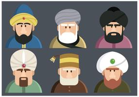Vetor de caracteres do sultão