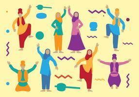 Dançarinos Punjabi vetor