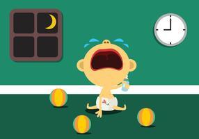 bebê pequeno chorando vetor