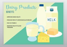 Vector de benefícios de produtos lácteos