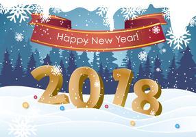 Fundo Feliz Ano Novo 2018 vetor