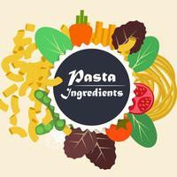 Vetor de massas de ingredientes