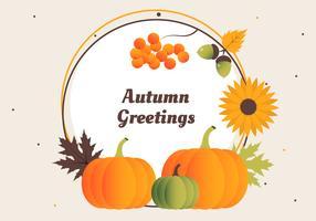 Elementos do vetor de colheita de outono