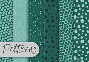 Cool Green Pattern Set vetor