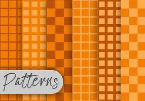 Conjunto de padrões de cubos de laranja vetor