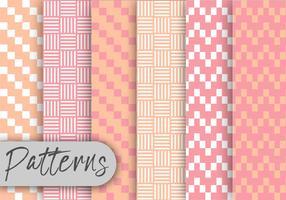 Conjunto de padrão geométrico rosa suave vetor