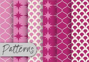 Pink Orient Pattern Set vetor