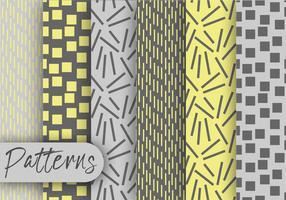 Conjunto de padrões de cinza amarelo vetor