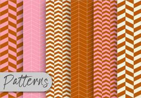 Conjunto de padrão marrom e rosa vetor