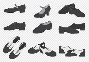 Coleção de sapatilhas de dança vetor