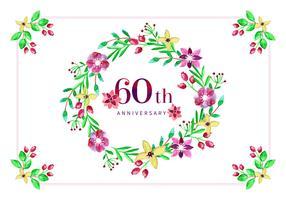 Aniversário do 60º Aniversário do Vector Gratuito
